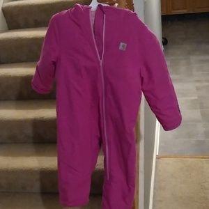 Girls Carhartt one-piece jacket 24 months